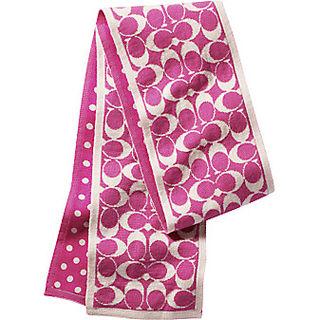 Pink coach scarf