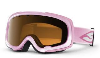 Pink ski goggles