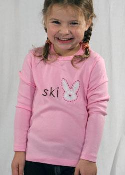 Pink ski bunny