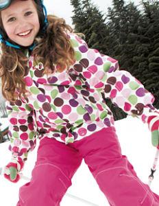 Pink ski girl
