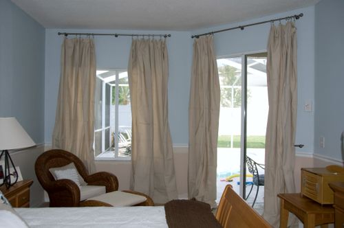 Bedroom after drapes